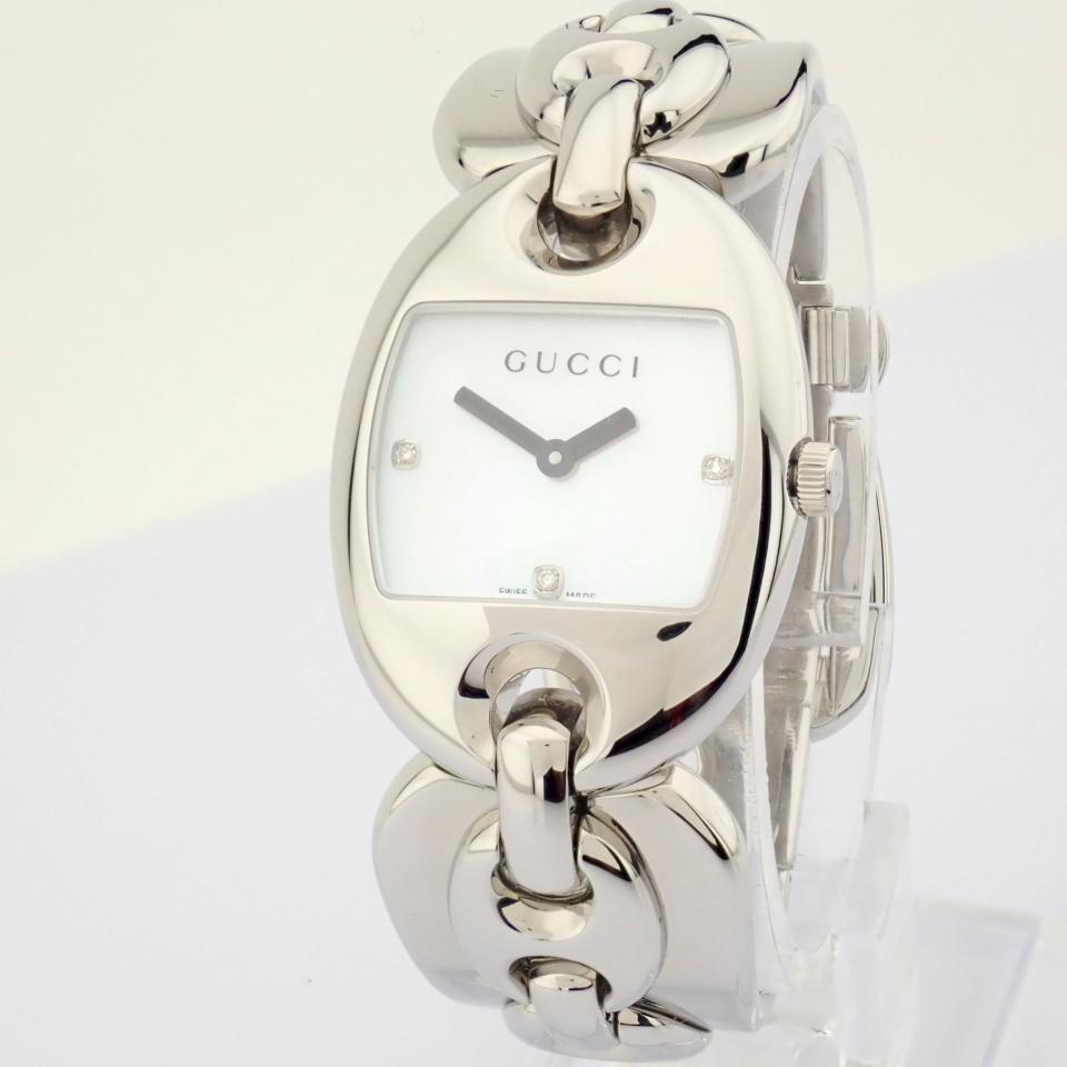 Gucci / 121.5 DIAMOND - Lady's Steel Wrist Watch - Image 4 of 12