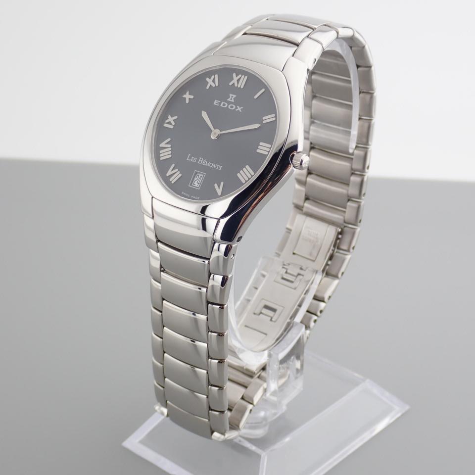 Edox / Date - Date World's Slimmest Calender Movement - Unisex Steel Wrist Watch - Image 6 of 8
