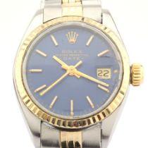 Rolex / Oyster Perpetual Date 6917 - Lady's Steel Wrist Watch