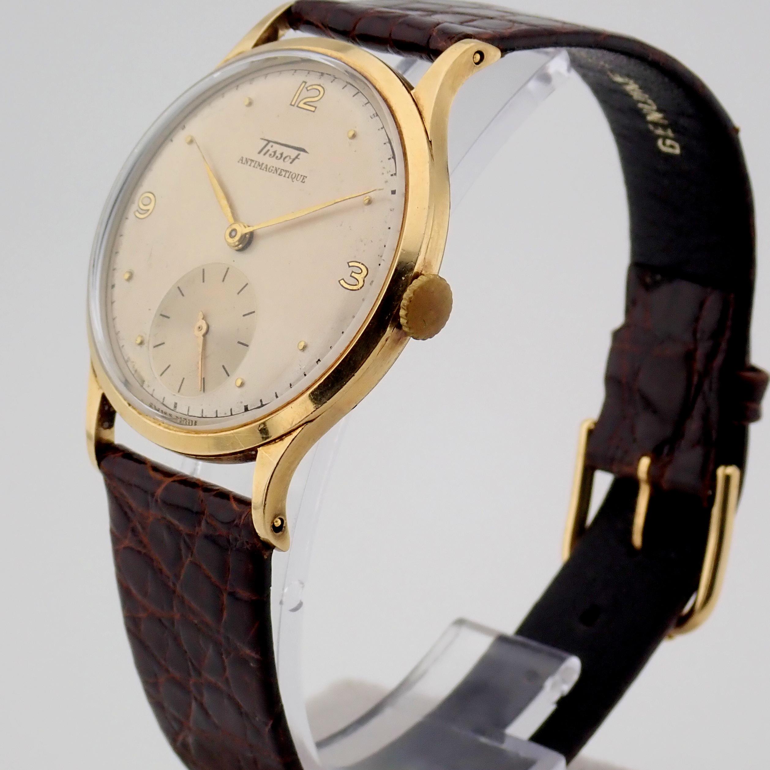 Tissot / Antimagnetique Classic 14K - Gentlemen's Yellow gold Wrist Watch - Image 9 of 12