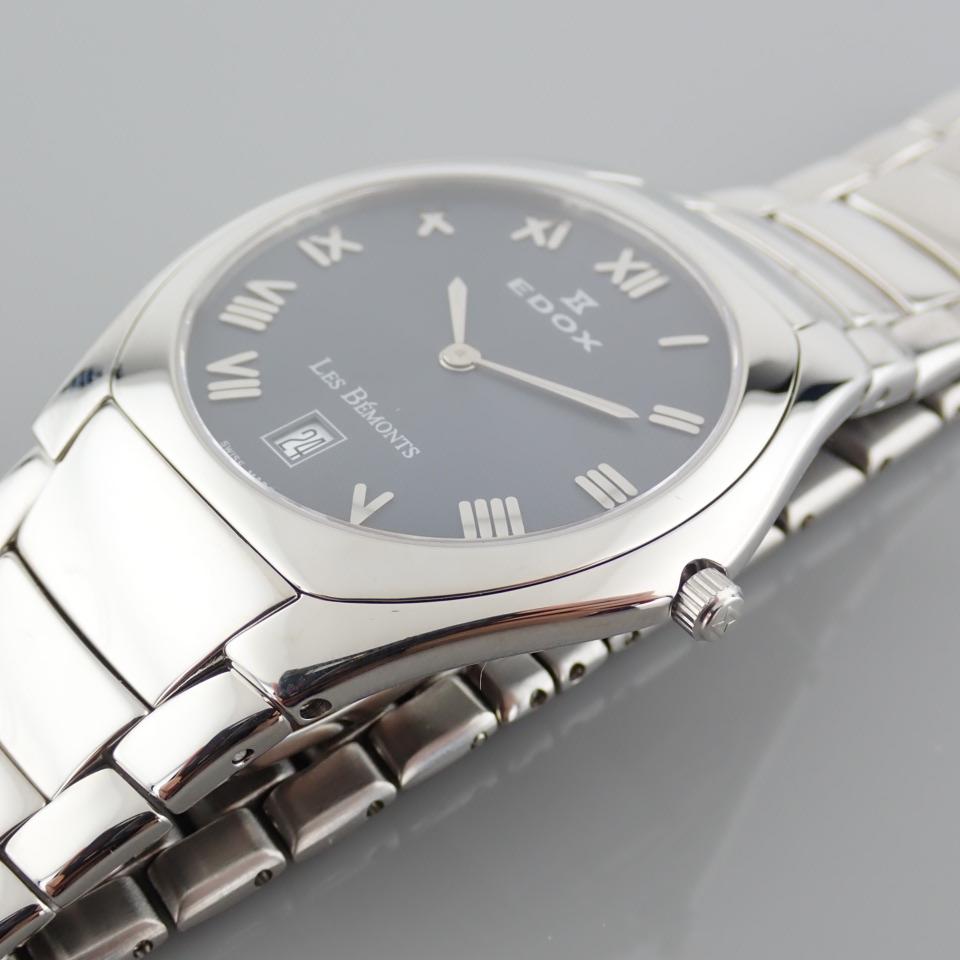 Edox / Date - Date World's Slimmest Calender Movement - Unisex Steel Wrist Watch - Image 3 of 8