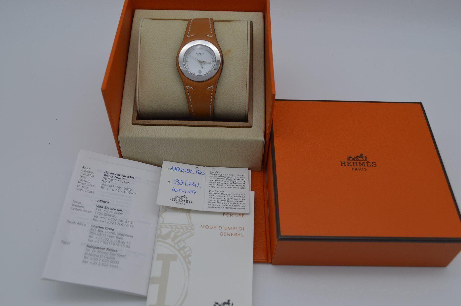 Herms / Harnais HA3.210 - Lady's Steel Wrist Watch - Image 5 of 6