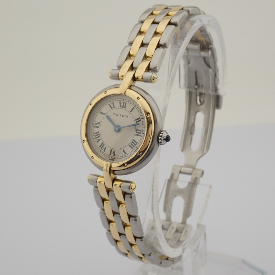 Cartier / Cartier Panthere Vendome 18K double row gold bracelet - Lady's Gold/Steel Wrist Watch - Image 3 of 10