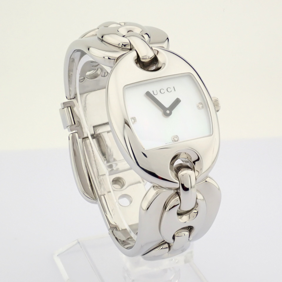 Gucci / 121.5 DIAMOND - Lady's Steel Wrist Watch - Image 12 of 12