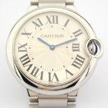 Cartier / Ballon Bleu 3005 - Gentlemen's Steel Wrist Watch