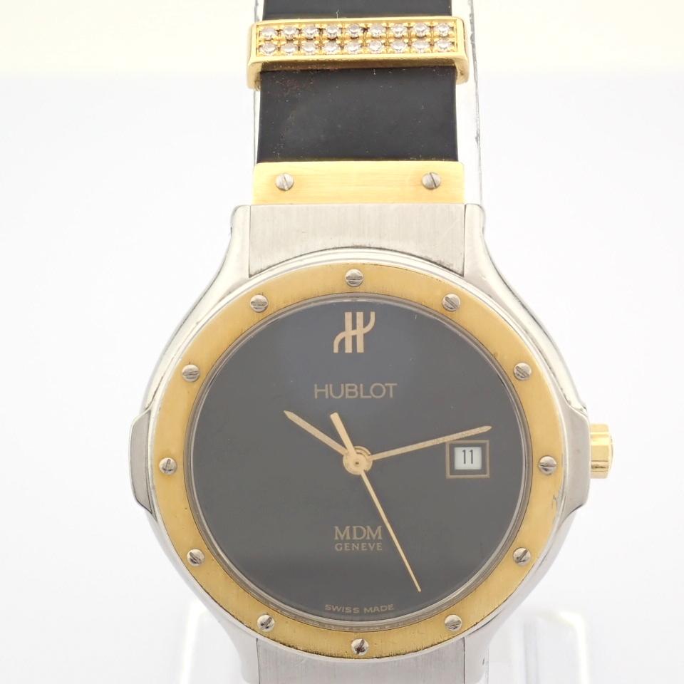 Hublot / MDM Diamond 18K Gold & Steel - Lady's Gold/Steel Wrist Watch - Image 11 of 17