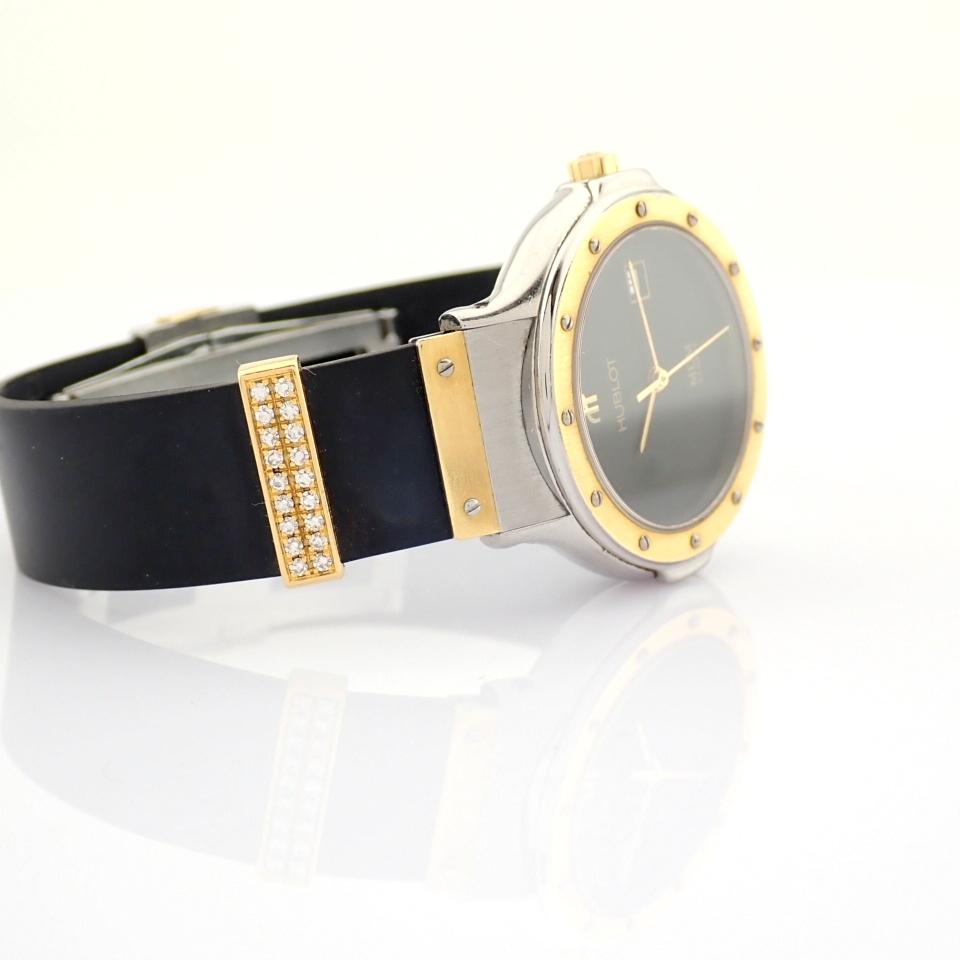 Hublot / MDM Diamond 18K Gold & Steel - Lady's Gold/Steel Wrist Watch - Image 15 of 17