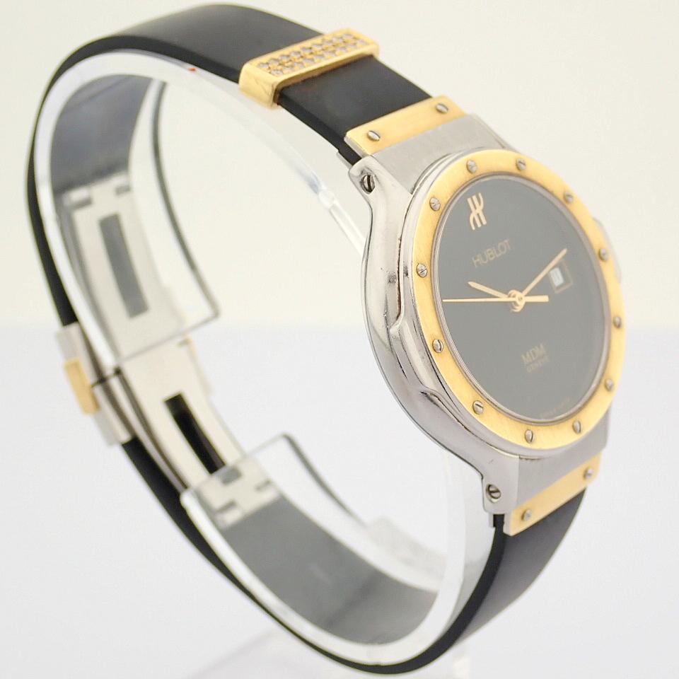 Hublot / MDM Diamond 18K Gold & Steel - Lady's Gold/Steel Wrist Watch - Image 12 of 17