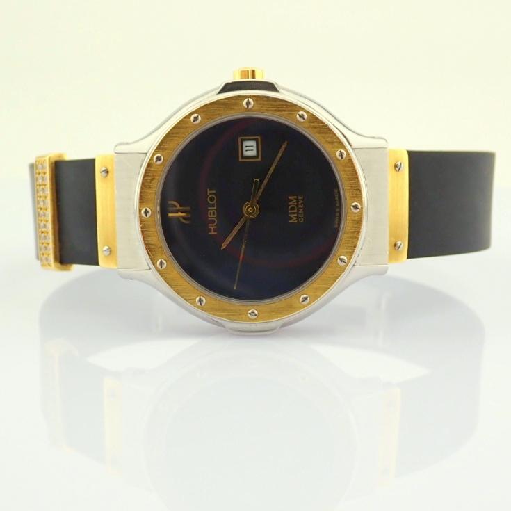 Hublot / MDM Diamond 18K Gold & Steel - Lady's Gold/Steel Wrist Watch - Image 2 of 17