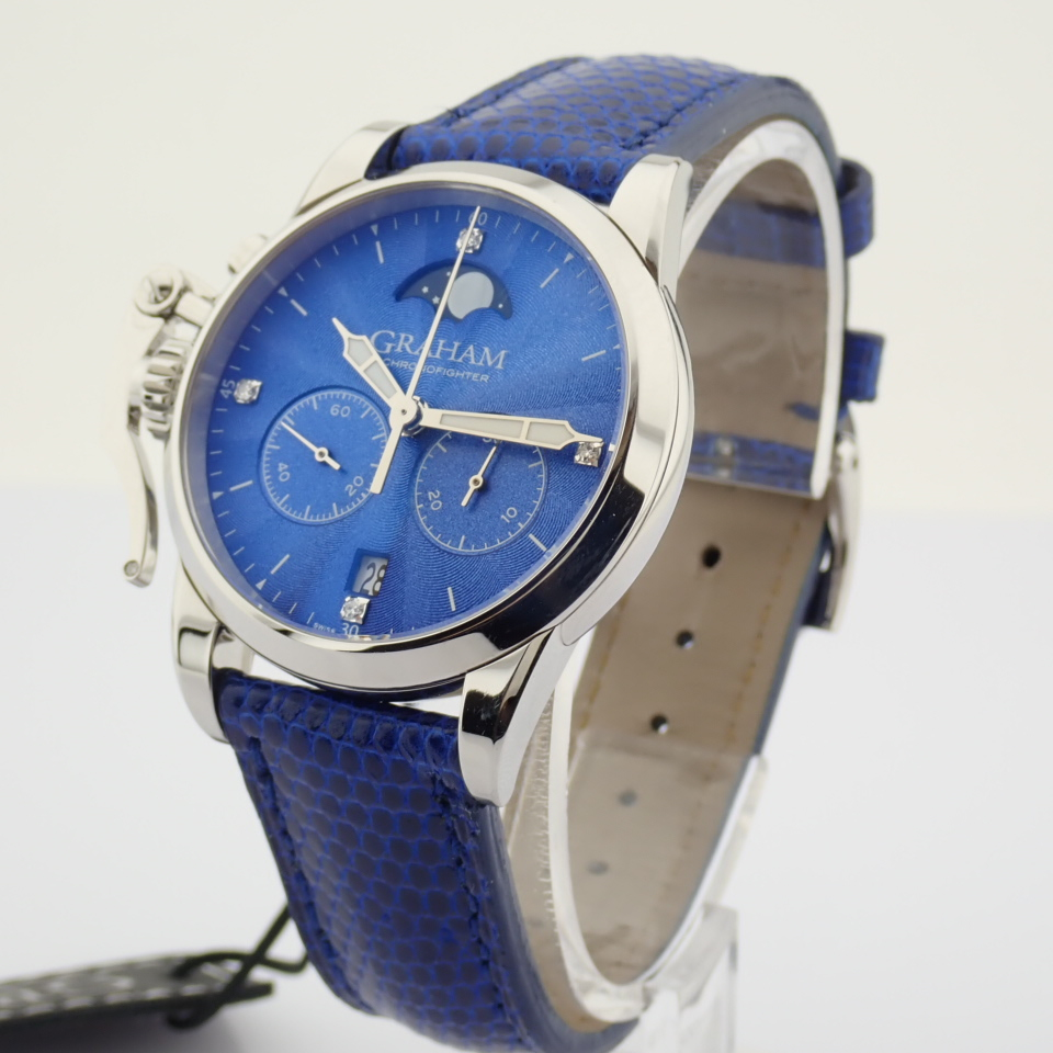 Graham / Chronofighter Lady Moon - Lady's Steel Wrist Watch - Image 12 of 15