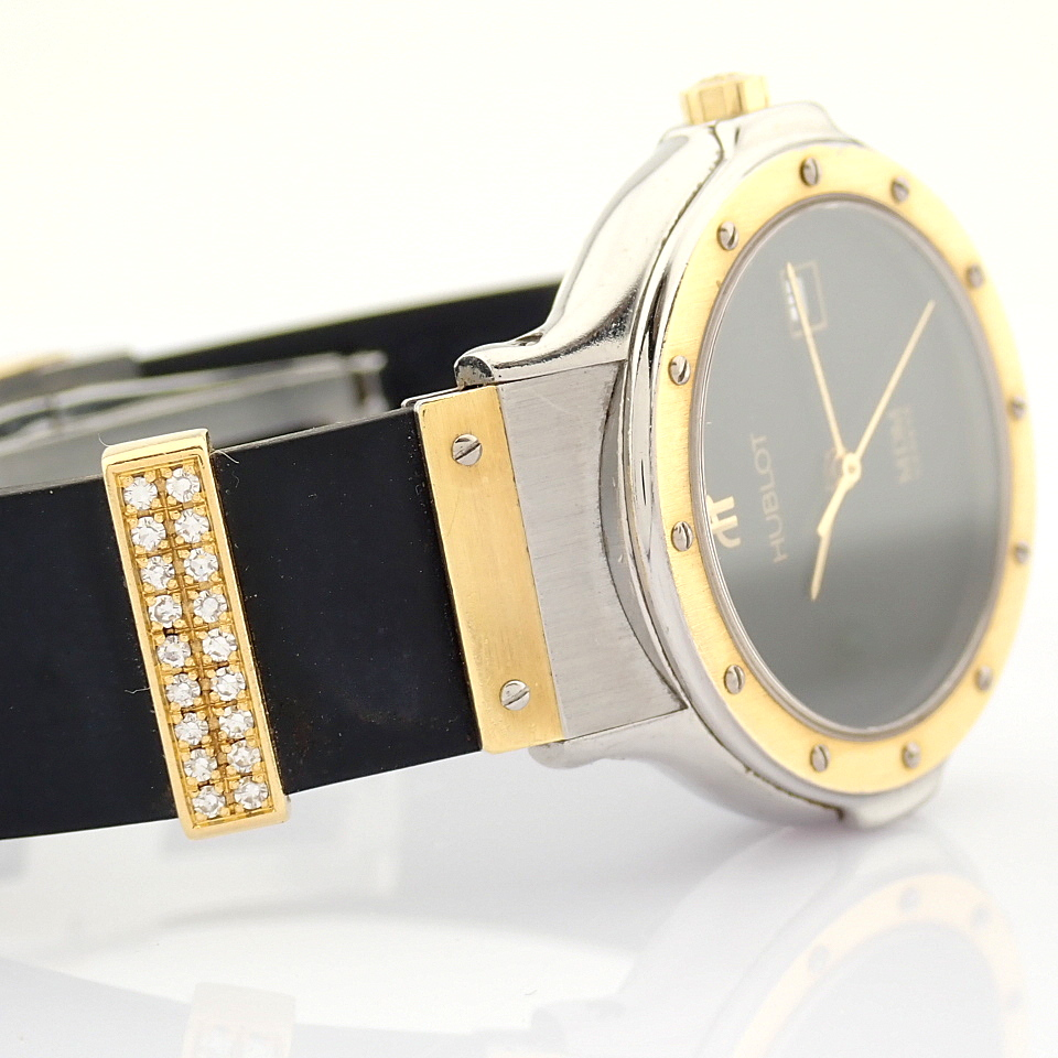 Hublot / MDM Diamond 18K Gold & Steel - Lady's Gold/Steel Wrist Watch - Image 14 of 17