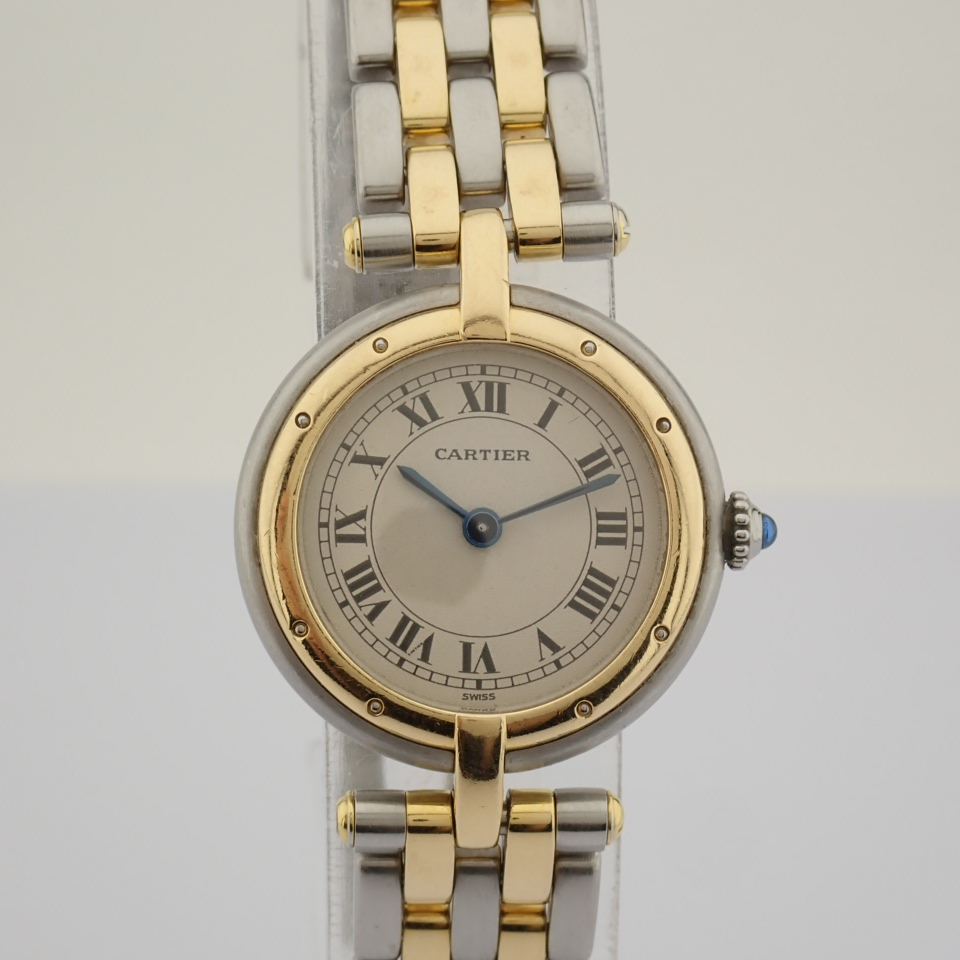 Cartier / Cartier Panthere Vendome 18K double row gold bracelet - Lady's Gold/Steel Wrist Watch - Image 2 of 10