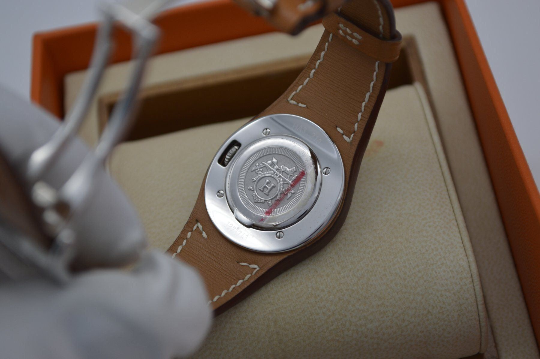 Herms / Harnais HA3.210 - Lady's Steel Wrist Watch - Image 4 of 6