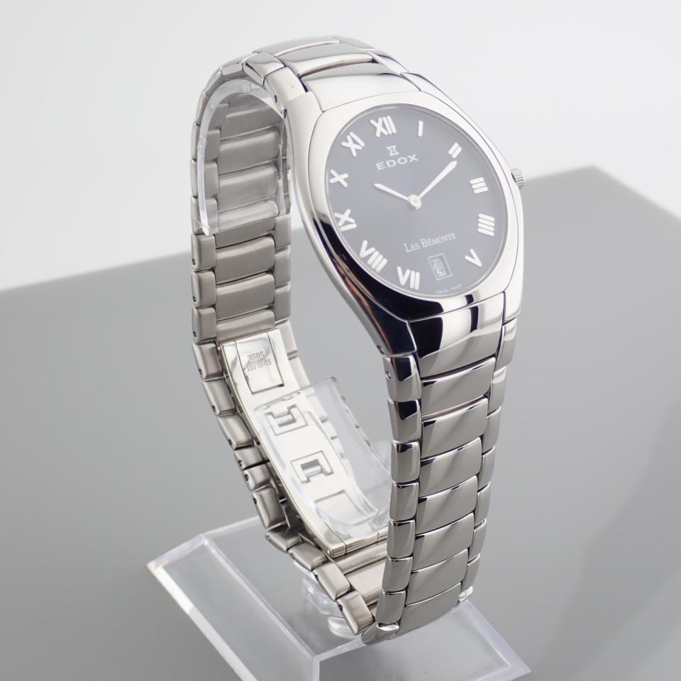 Edox / Date - Date World's Slimmest Calender Movement - Unisex Steel Wrist Watch - Image 5 of 8