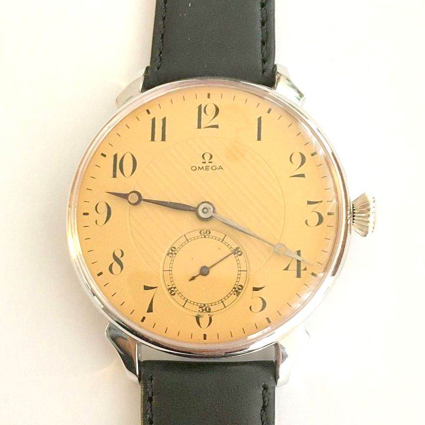 Omega / Marriage Watch - Transparent Large 46 mm - Gentlemen's Steel Wrist Watch