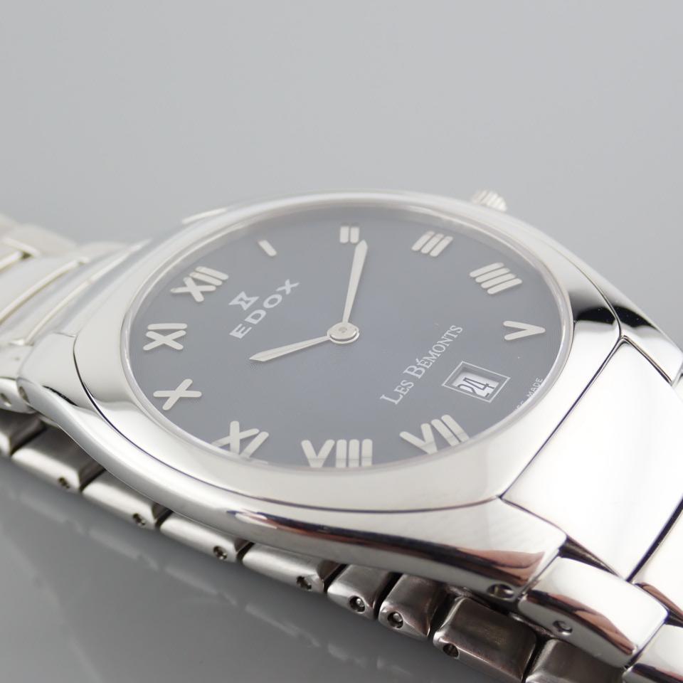 Edox / Date - Date World's Slimmest Calender Movement - Unisex Steel Wrist Watch - Image 2 of 8