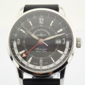 Zeno-Watch Basel / Magellano GMT (Dual Time) - Gentlemen's Steel Wrist Watch