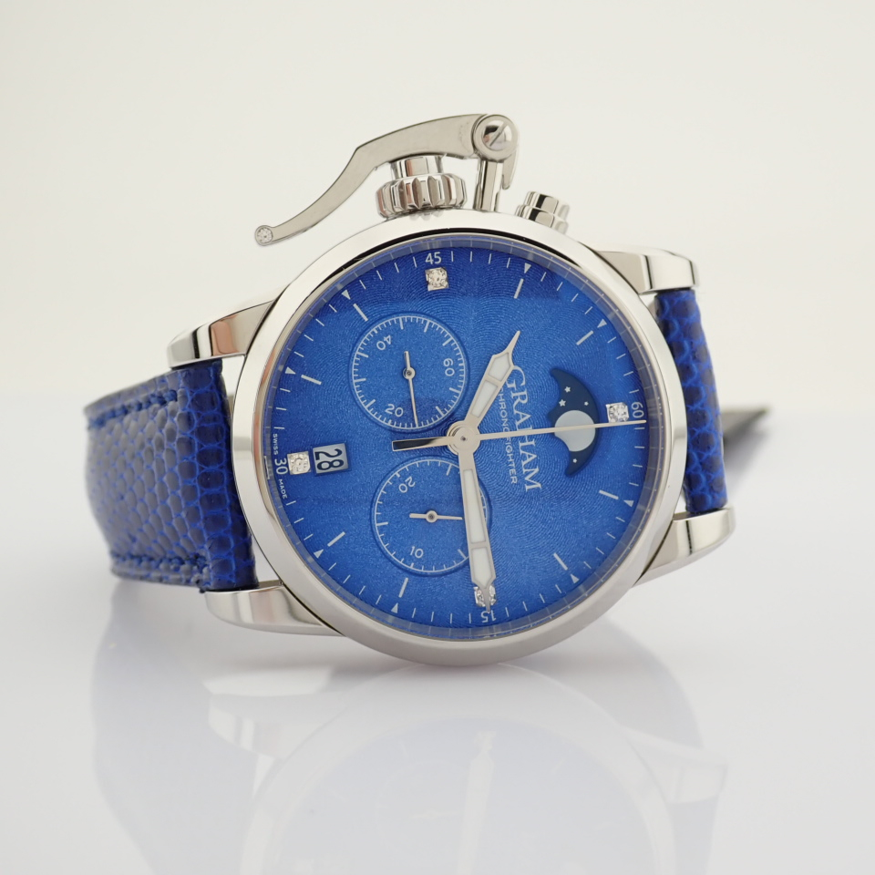 Graham / Chronofighter Lady Moon - Lady's Steel Wrist Watch - Image 14 of 15