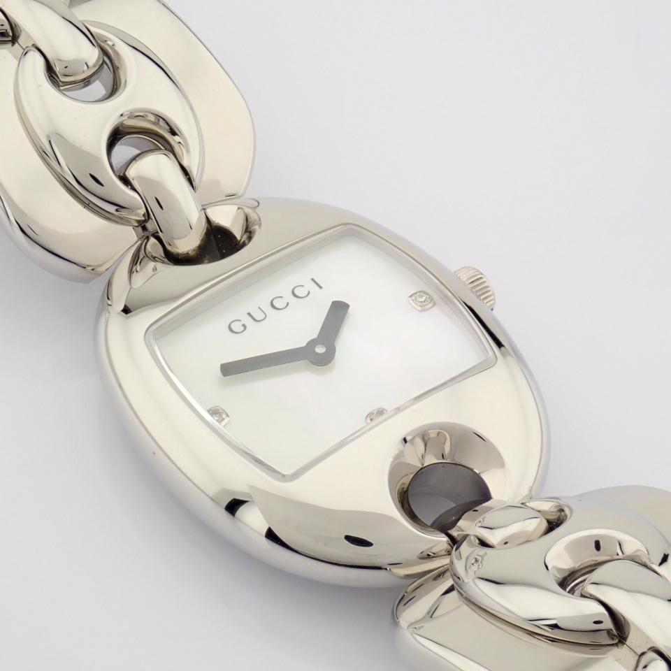 Gucci / 121.5 DIAMOND - Lady's Steel Wrist Watch - Image 7 of 12