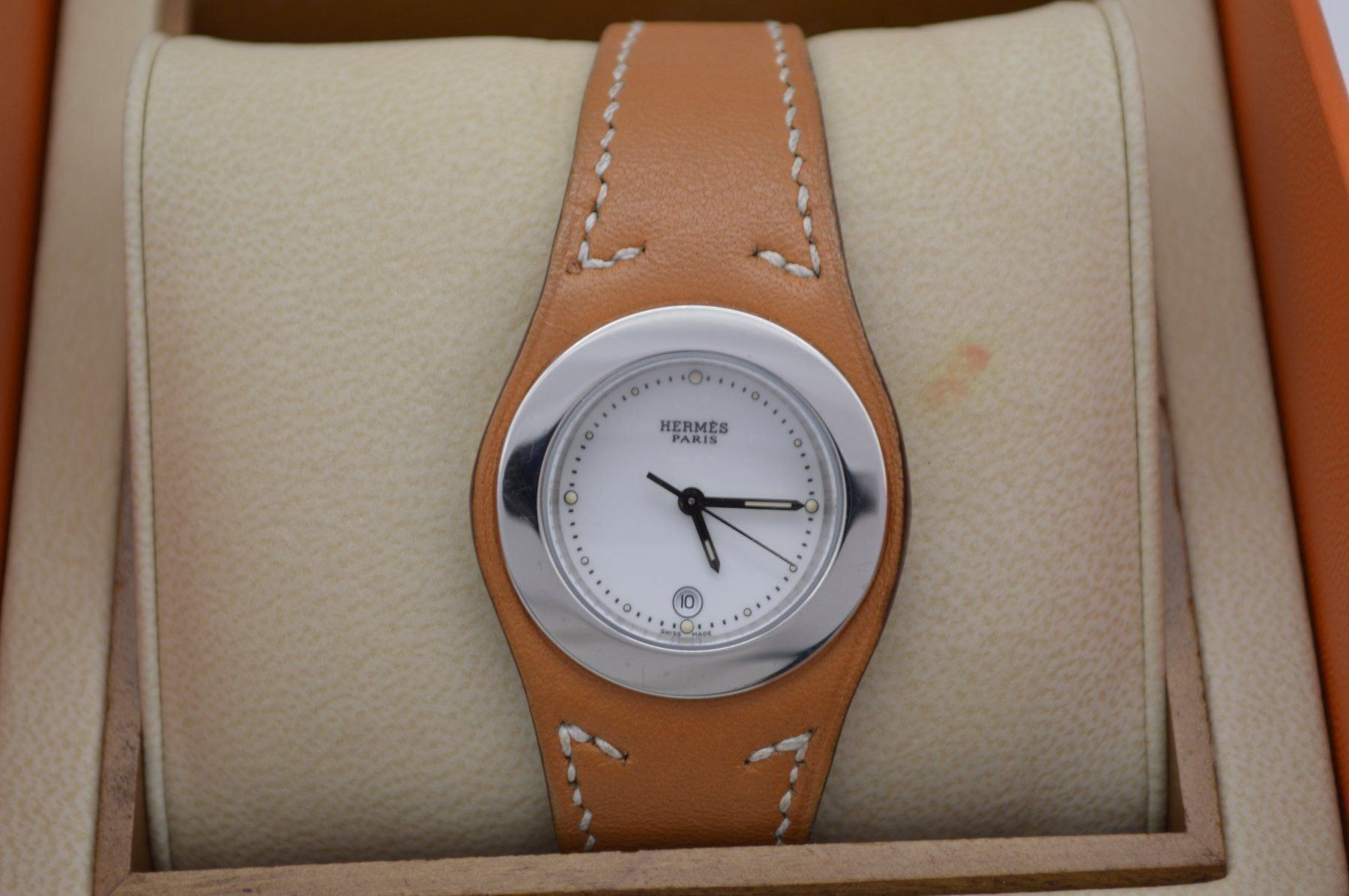Herms / Harnais HA3.210 - Lady's Steel Wrist Watch - Image 6 of 6