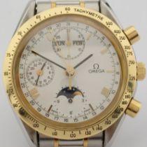 Omega / Speedmaster Triple Date / Moonphase - Gentlemen's Gold/Steel Wrist Watch