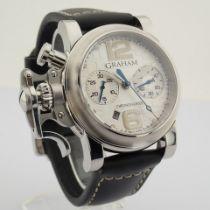 Graham / Chronofighter RAC - Gentlemen's Steel Wrist Watch