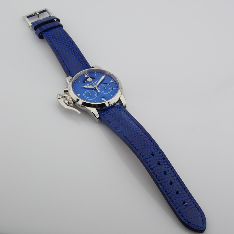 Graham / Chronofighter Lady Moon - Lady's Steel Wrist Watch - Image 15 of 15