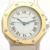 Cartier / Santos Octagon - Automatic - Lady's Gold/Steel Wrist Watch
