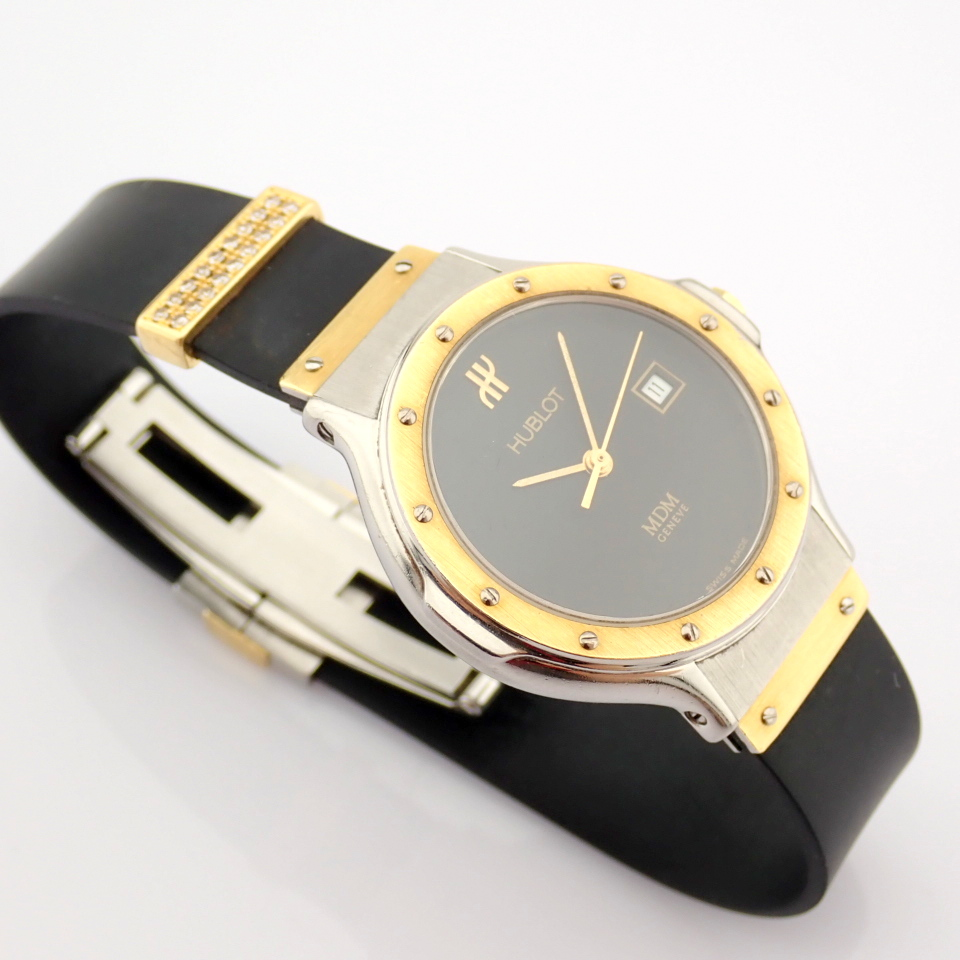 Hublot / MDM Diamond 18K Gold & Steel - Lady's Gold/Steel Wrist Watch - Image 17 of 17