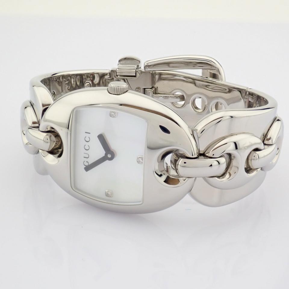 Gucci / 121.5 DIAMOND - Lady's Steel Wrist Watch - Image 10 of 12