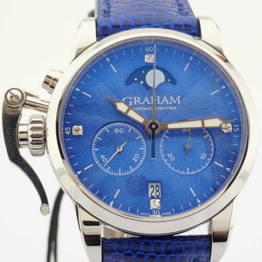 Graham / Chronofighter Lady Moon - Lady's Steel Wrist Watch - Image 11 of 15