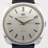 IWC / Pellaton (Rare) - Gentlemen's Steel Wrist Watch