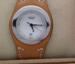 Herms / Harnais HA3.210 - Lady's Steel Wrist Watch