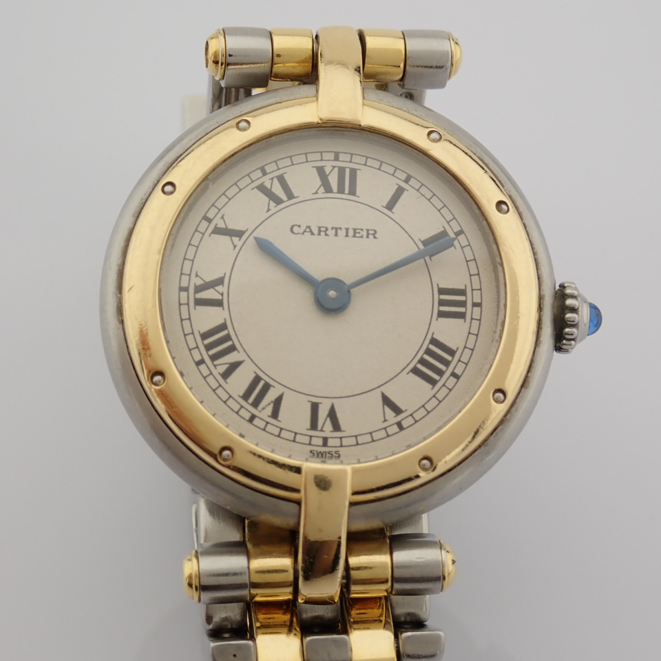 Cartier / Cartier Panthere Vendome 18K double row gold bracelet - Lady's Gold/Steel Wrist Watch - Image 8 of 10