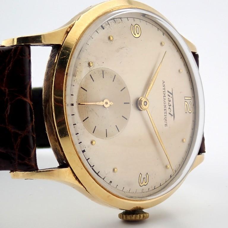 Tissot / Antimagnetique Classic 14K - Gentlemen's Yellow gold Wrist Watch - Image 5 of 12