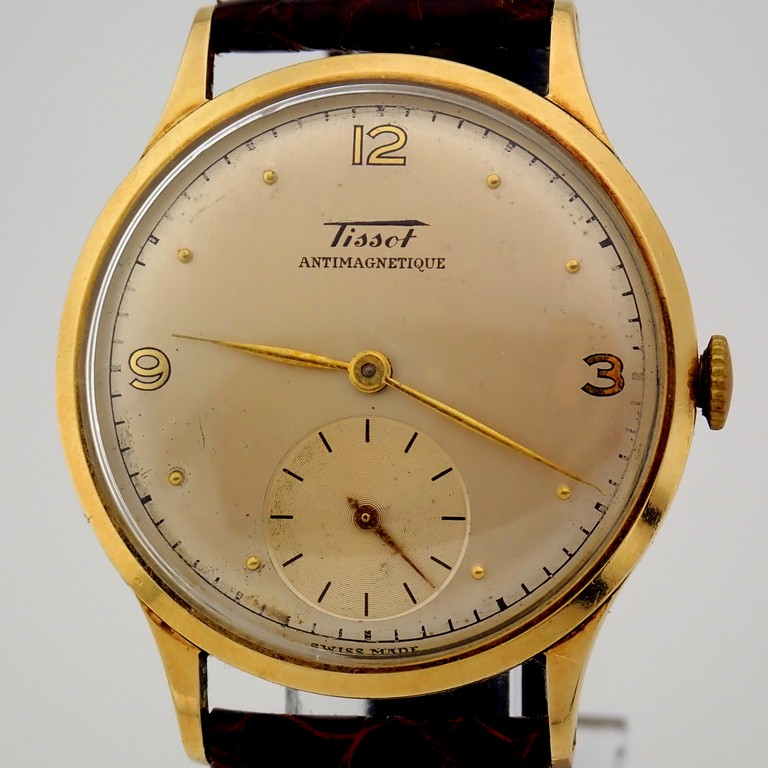 Tissot / Antimagnetique Classic 14K - Gentlemen's Yellow gold Wrist Watch - Image 3 of 12