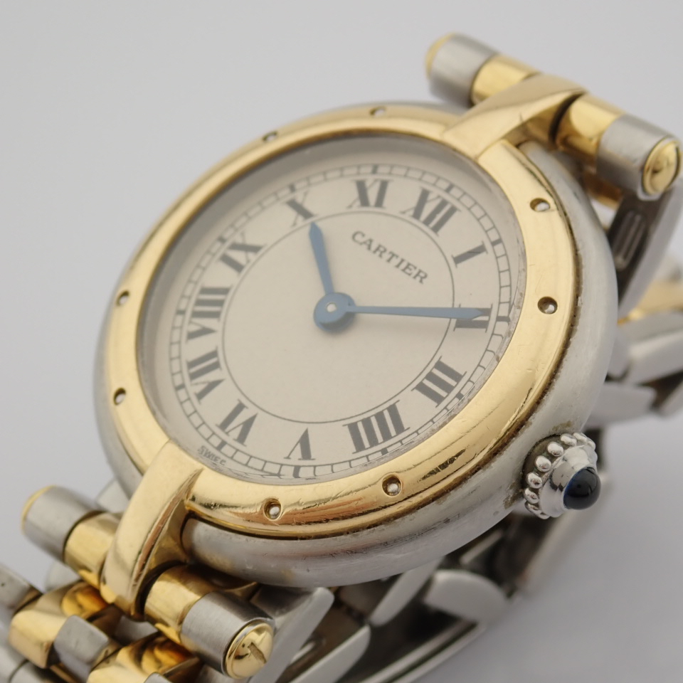 Cartier / Cartier Panthere Vendome 18K double row gold bracelet - Lady's Gold/Steel Wrist Watch - Image 9 of 10