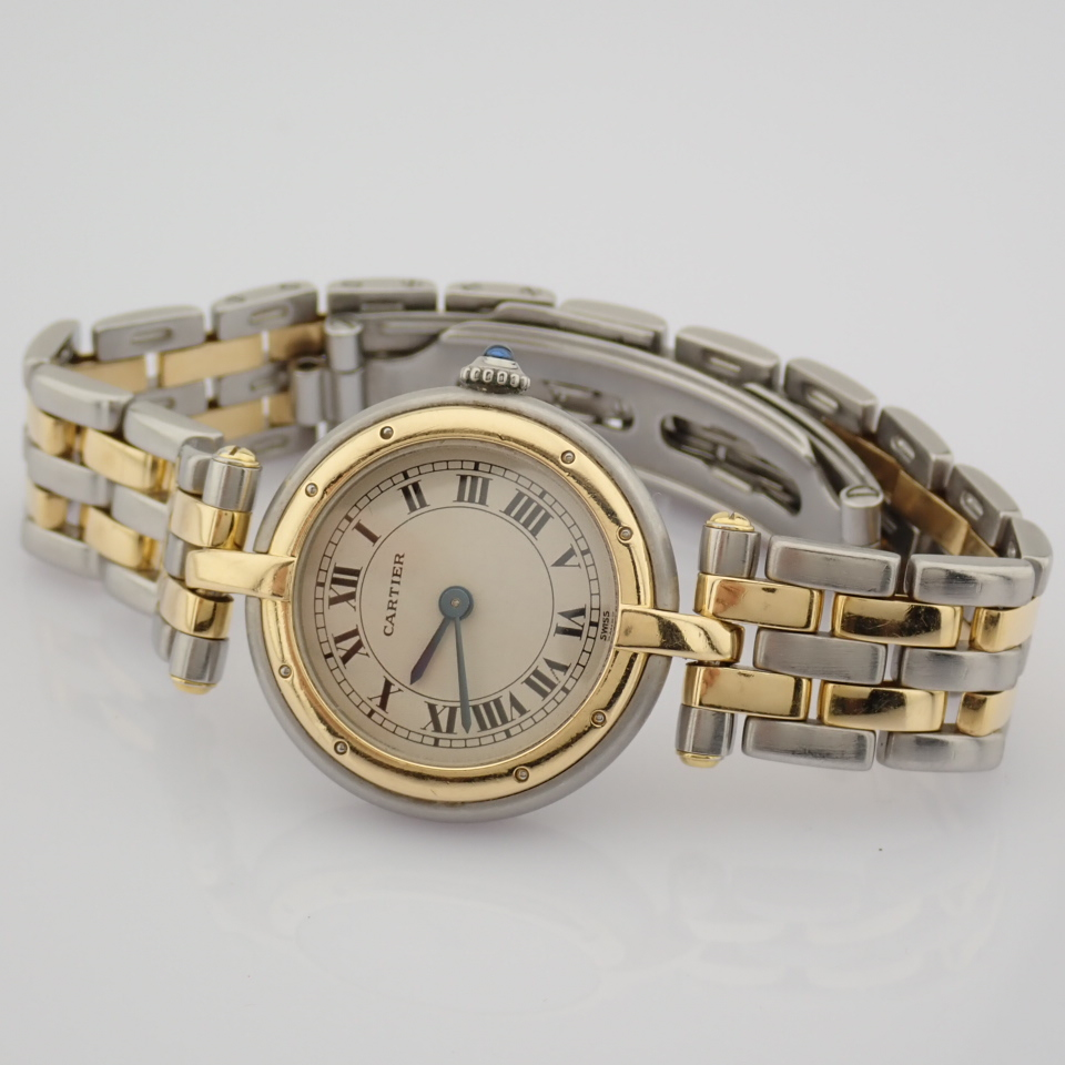 Cartier / Cartier Panthere Vendome 18K double row gold bracelet - Lady's Gold/Steel Wrist Watch - Image 4 of 10