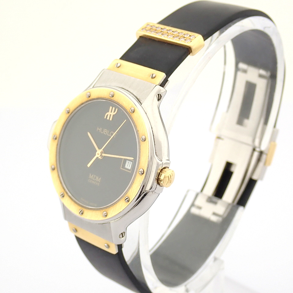 Hublot / MDM Diamond 18K Gold & Steel - Lady's Gold/Steel Wrist Watch - Image 13 of 17