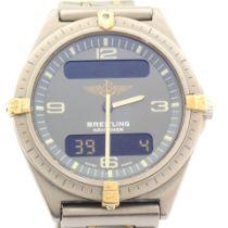 Breitling / Navitimer 80360 - Gentlemen's Titanium Wrist Watch
