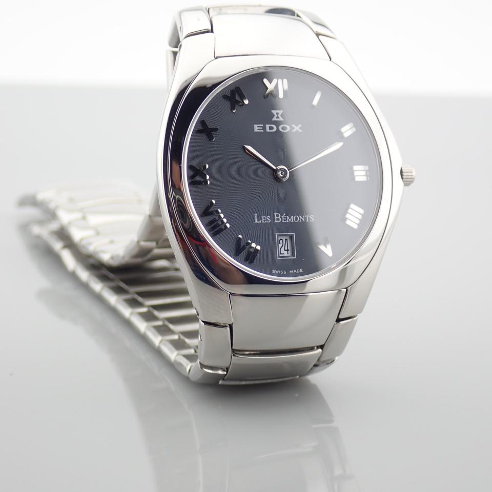 Edox / Date - Date World's Slimmest Calender Movement - Unisex Steel Wrist Watch - Image 7 of 8
