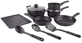 (R7D) 1x Scoville Pure Never Stick 9 Piece Toughened Aluminium Cookware Set.