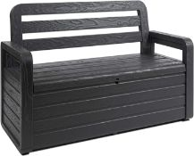 (R10B) 1x Panchina Forever Spring Bench Anthracite Scatola.
