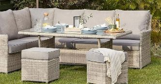 1x Hartington Table (Box 1 Of 2 Only From Florence Corner Sofa Set – Rattan Table, No Glass)