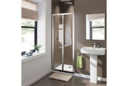New Twyford's 700mm - 8mm - Premium Easy Clean Bifold Shower Door. RRP £379.99.Durability To W...