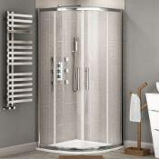 New (R80) 900x900 mm 2 Door Quadrant Shower Enclosure. RRP £398.29.Constructed Of 6 mm Lightwei...
