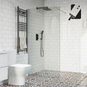 New (S19) 1000 mm - 10 mm - Premium Frameless Easy clean Wet room Panel. RRP £499.99. 10 mm British.