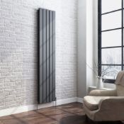 New Boxed 1800x360 mm Anthracite Single Flat Panel Vertical Radiator. RRP £364.99.Ara6/1800S...