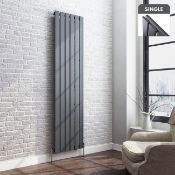 New 1800x480 mm Anthracite Single Flat Panel Vertical Radiator. RRP £464.99.Made With Low Ca...