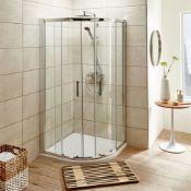 New (T18) 800x800mm - Premium Easyclean Sliding Door Quadrant Shower Enclosure. RRP £499.99 H...
